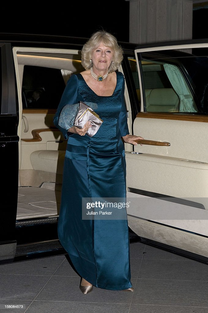The Duchess Of Cornwall Arrives For Dinner With The Prince Of Wales, Emperor Akihito, And Empress Michiko At The Imperial Palace In Tokyo On The First Day Of Their Tour Of Japan.