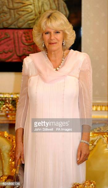 The Duchess of Cornwall at a reception before dinner at the Royal Palace in Bandar Seri Begawan Brunei south east Asia