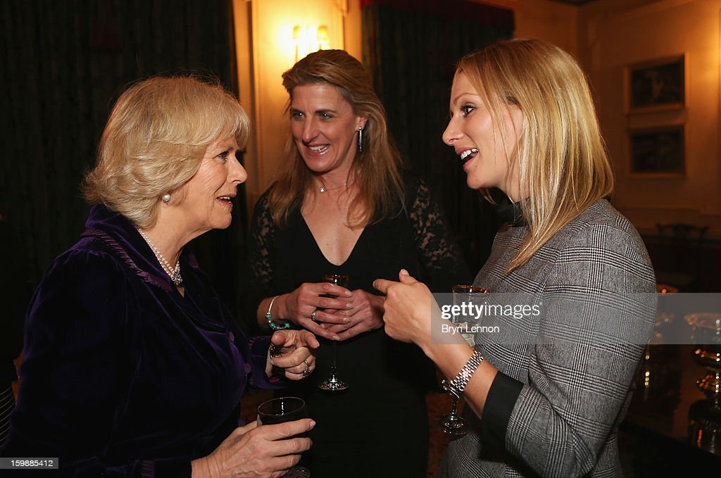 The Duchess of Cornwall chats to Olympic Eventer <a gi-track='captionPersonalityLinkClicked' href=/galleries/search?phrase=Zara+Phillips&family=editorial&specificpeople=161323 ng-click='$event.stopPropagation()'>Zara Phillips</a> during a reception hosted by the Duchess of Cornwall for the British Equestrian Teams from the London 2012 Olympics And Paralympics at Clarence House on January 22, 2013 in London, England.