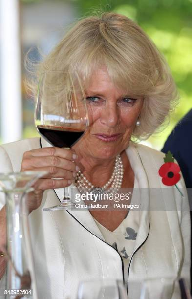 The Duchess of Cornwall during a wine tasting at the Penfolds winery in Adelaide Australia
