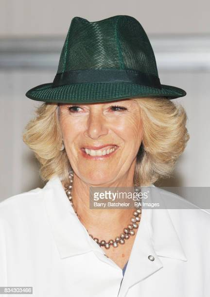 The Duchess of Cornwall during her tour of Tyrrells Potato Chip factory near Leominster Herefordshire