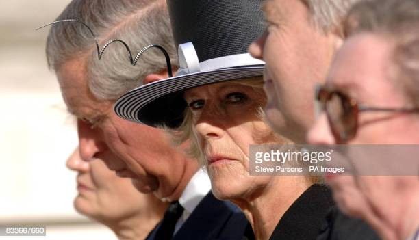 The Duchess of Cornwall during the unveiling a memorial to those who died in the Bali bombings four years ago on Clive Steps at Horse Guards Road...