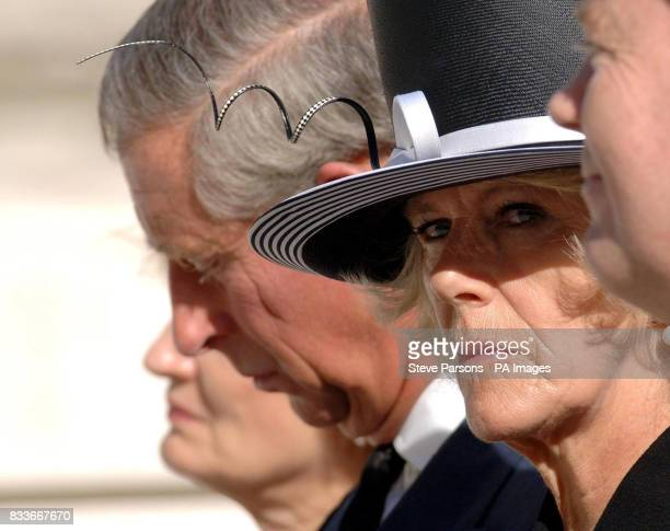 CROP The Duchess of Cornwall during the unveiling a memorial to those who died in the Bali bombings four years ago on Clive Steps at Horse Guards...