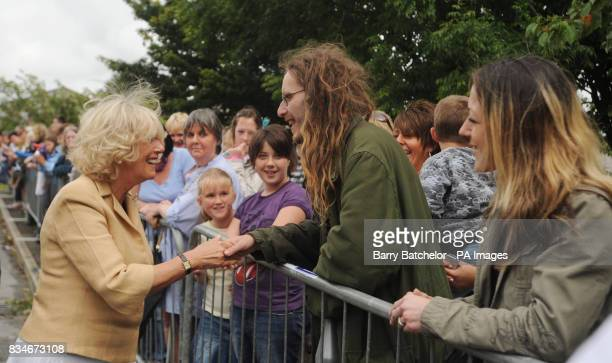 The Duchess of Cornwall meets local residents outside Berryfields Community Centre Bodmin The Prince and Duchess started their two day visit to...