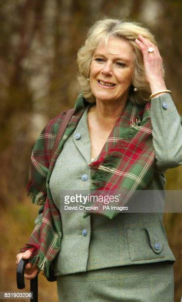 The Duchess of Cornwall visits Muir of Dinnet National Nature Reserve on Royal Deeside in Scotland with the Prince of Wales