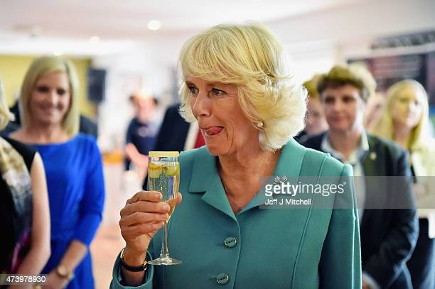 The Duchess of Cornwall visits the Taste of the Wild Atlantic Way Food Festival at the House Hotel where she sampled The Duches cocktail named after...