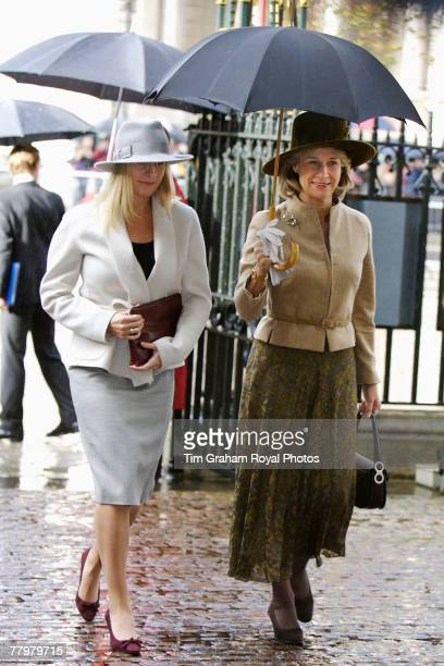 The Duchess of Gloucester and her daughter Lady Rose attend a service of thanksgiving at Westminster Abbey to celebrate the Queen and Prince Philip's...
