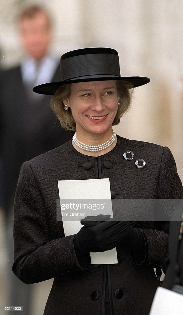 The Duchess Of Gloucester At A Service Of Thanksgiving For The Life And Work Of Viscount Tonypandy At Westminster Abbey London