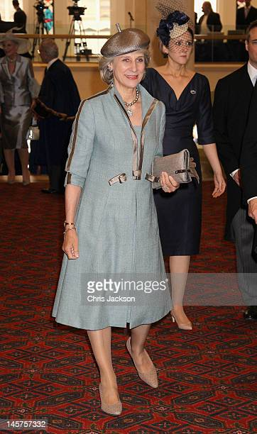 The Duchess of Gloucester attends a Diamond Jubilee Reception at Guildhall on June 5 2012 in London England For only the second time in its history...