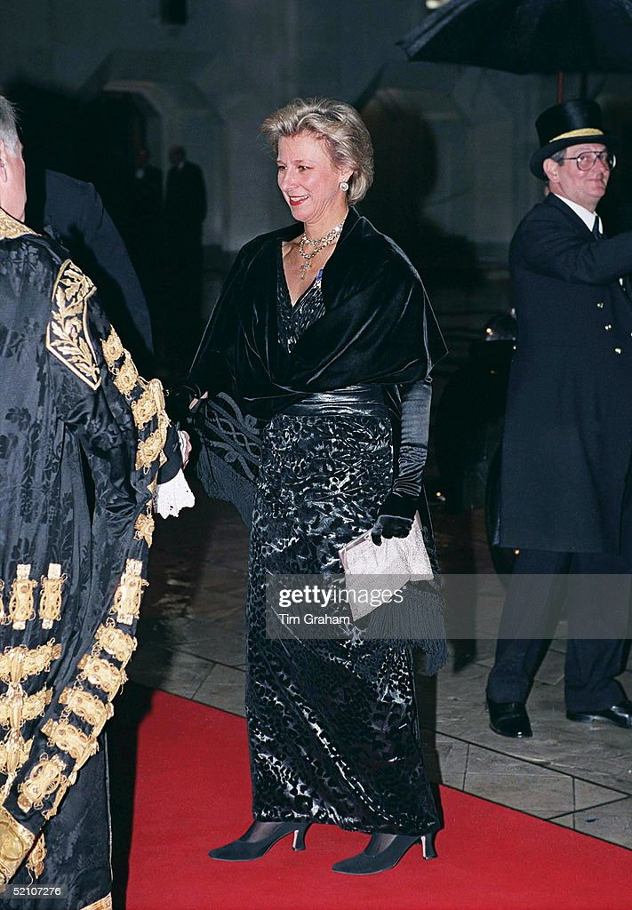 The Duchess Of Gloucester Attends A Dinner Held By The Corporation Of London To Mark The 900th Anniversary Of The Order At The Guildhall London