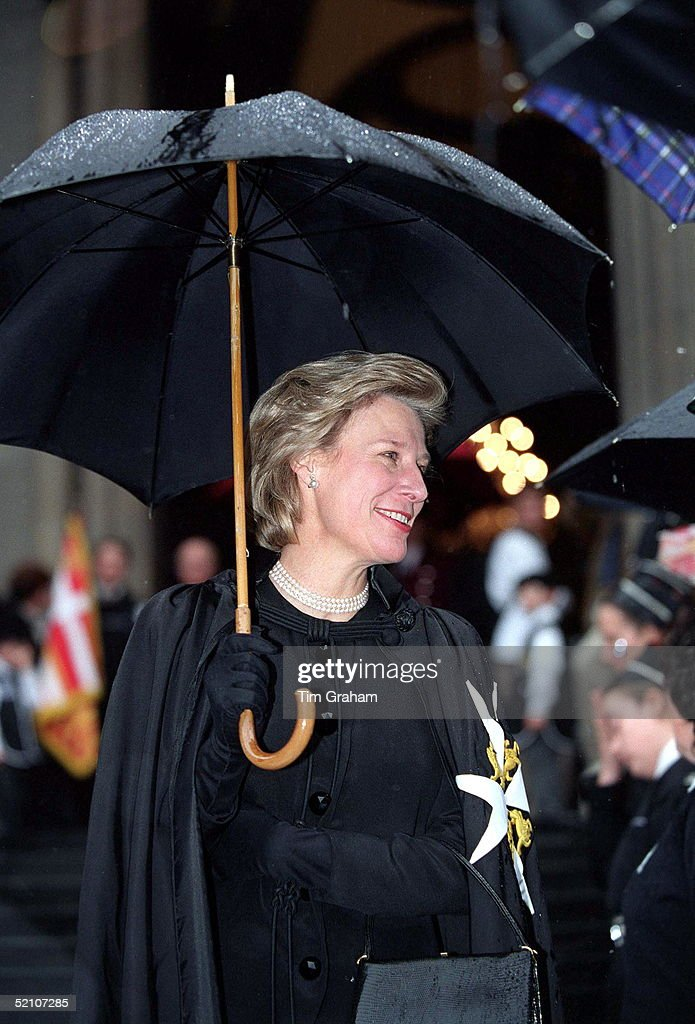 The Duchess Of Gloucester Joins The Duke Of Gloucester Grand Prior The Order Of St John To Attend A Service To Mark The 900th Anniversary Of The...