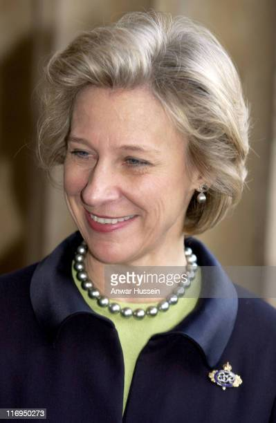 The Duchess of Gloucester visits the British Museum to view the 'Spinario' on March 15 2005 in London England