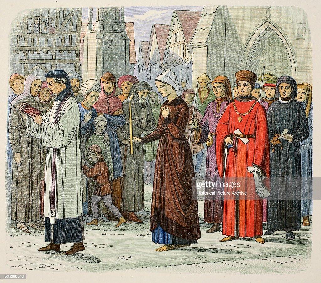 The Duchess of Gloucester doing penance