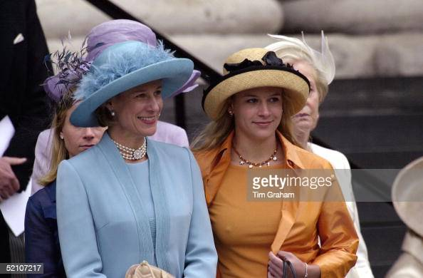 The Duchess Of Gloucester With Daughter Lady Rose Windsor At A Thanksgiving Service At St Paul's Cathedral For The 100th Birthday Of The Queen Mother