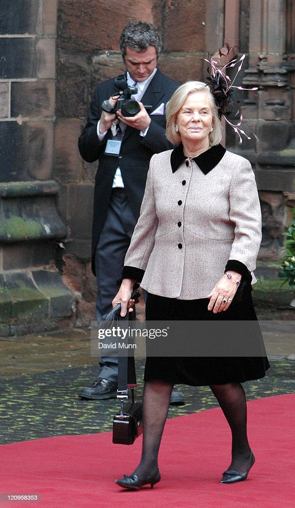 The Duchess of Kent at the wedding of Lady Tamara Katherine Grosvenor and Edward Bernard Charles van Cutsem at Chester Cathedral on Saturday November 6, 2004