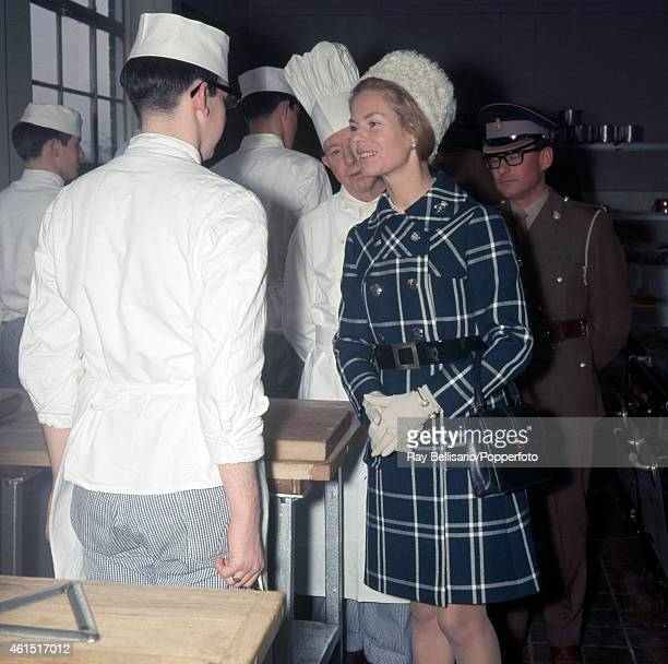 The Duchess of Kent inspecting the Army Catering Corps Training Centre in Aldershot on 4th December 1969 This image is one of a series taken by Ray...
