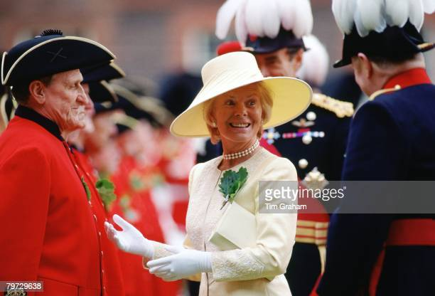 The Duchess of Kent meets Chelsea pensioners at Founder's Day at the Royal Hospital
