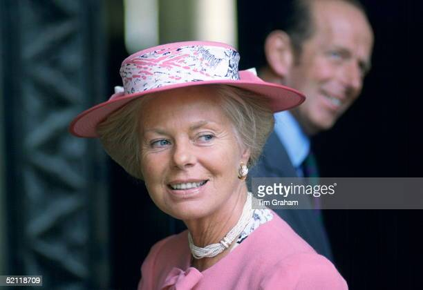 The Duchess Of Kent Visiting St Albans Behind Her Is Her Husband The Duke Of Kent
