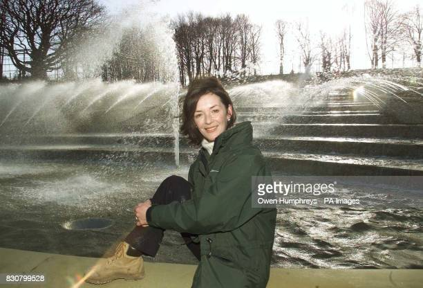 The Duchess of Northumberland by the new public water garden part of a 14m project at Alnwick Castle Northumberland at the opening of the attraction...