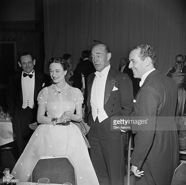 The Duchess of Windsor and Milton 'Doc' Holden at a party being held in honour of the Duke and Duchess of Windsor at the Waldorf Astoria Park Avenue...