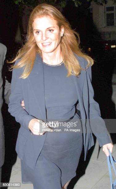 The Duchess of York leaves Santini Resturant in Ebury Street London She arrived at 6pm the previous evening for a friend's birthday celebration that...