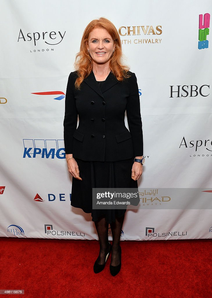 The Duchess of York, <a gi-track='captionPersonalityLinkClicked' href=/galleries/search?phrase=Sarah+Ferguson+-+Duchess+of+York&family=editorial&specificpeople=160596 ng-click='$event.stopPropagation()'>Sarah Ferguson</a> arrives at The British American Business Council Los Angeles 54th Annual Christmas Luncheon at the Fairmont Miramar Hotel on December 13, 2013 in Santa Monica, California.