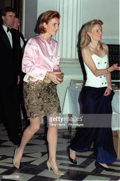 The Duchess of York Sarah Ferguson arrives for a charity dinner and fashion show by the royal dressmaker Lindka Cierach at Syon House Isleworth