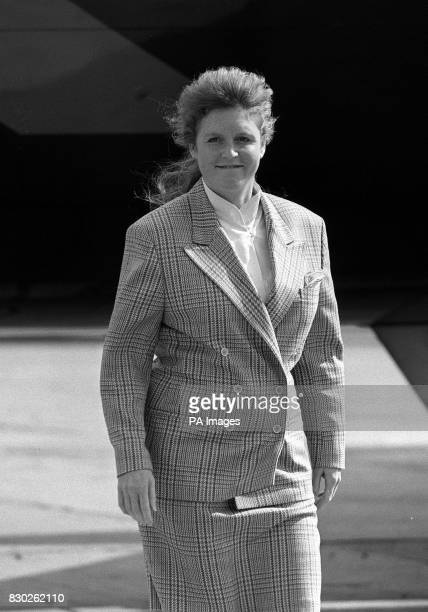 The Duchess of York steps off the scheduled British Airways flight on arrival at Heathrow Airport in London from Aberdeen The Duchess was expected to...