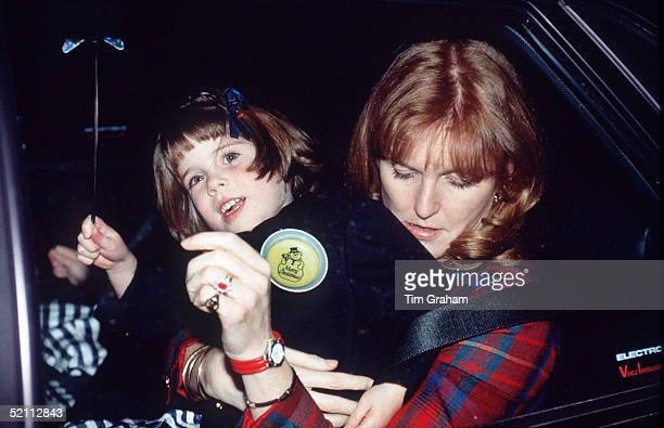 The Duchess Of York With Her Daughter Princess Eugenie