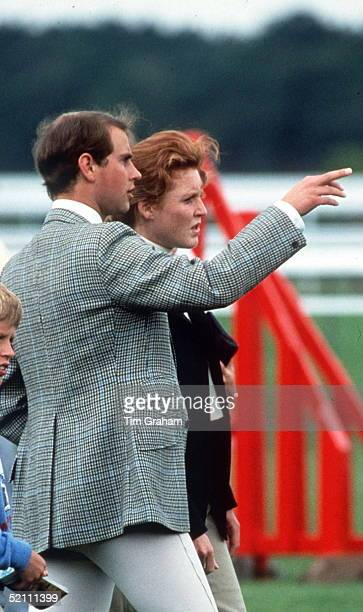 The Duchess Of York With Prince Edward At A Charity Riding Fun Day At Ascot