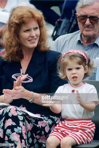 The Duchess Of York With Princess Eugenie At The Upton House School Sports Day
