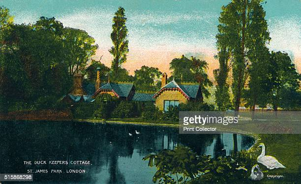 The Duck Keepers Cottage St James Park London' 1907 [G D D London circa 1907] Artist Unknown