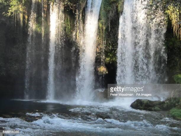 The Duden Waterfall in in Antalya Turkey