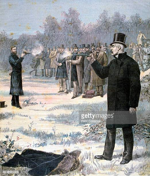 The Duel between Paul Deroulede and Georges Clemenceau 1893 A print from the Le Petit Journal 7th January 1893