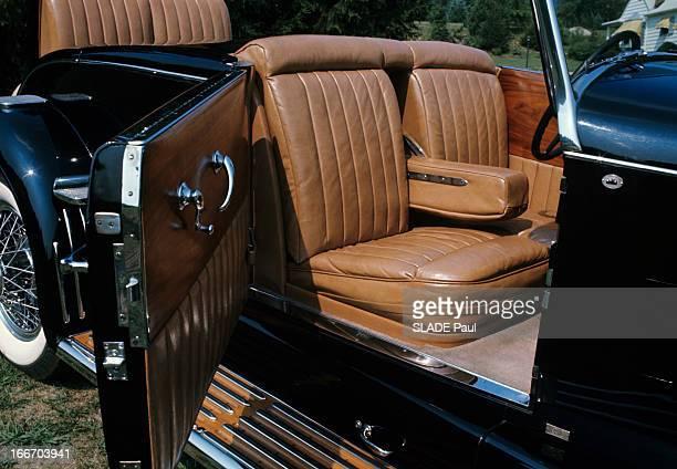The Duesenberg Model Cabriolet 'J' Aux EtatsUnis en septembre 1966 le cabriolet DUSENBERG modèle 'J' une voiture de collection vue de l'intérieur la...