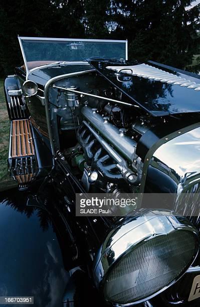 The Duesenberg Model Cabriolet 'J' Aux EtatsUnis en septembre 1966 le cabriolet DUSENBERG modèle 'J' une voiture de collection gros plan sur le...