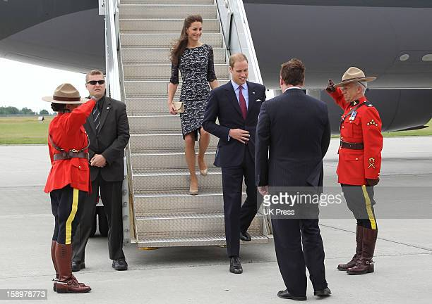 The Duke And Duchess Of Cambridge Arrive At Ottawa MacdonaldCartier International AirportDuring Their Official Royal Visit To Canada