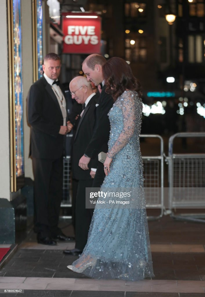 The Duke and Duchess of Cambridge arriving to attend the Royal Variety Performance at the London Palladium in central London.