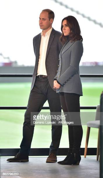 The Duke and Duchess of Cambridge at West Ham UnitedOtildes London Stadium as they attend the graduation ceremony for more than 150 Coach Core...