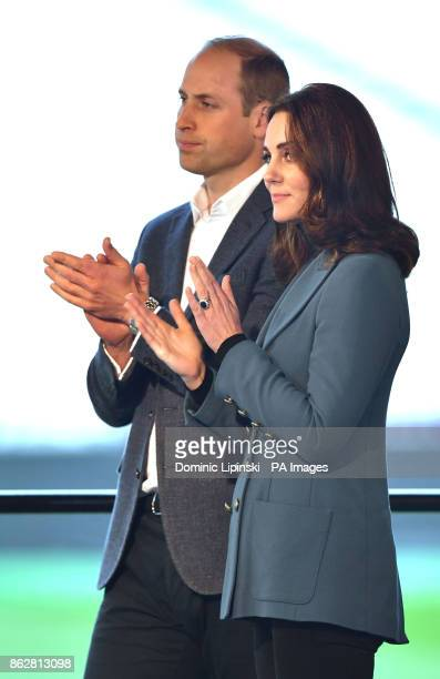 The Duke and Duchess of Cambridge at West Ham UnitedOtildes London Stadium applaud as they attend the graduation ceremony for more than 150 Coach...