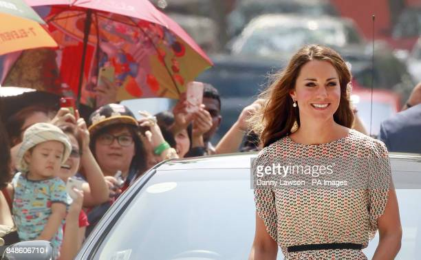 The Duke and Duchess of Cambridge during a visit to Strathmore Green Queenstown Housing Estate in Singapore as part of a nineday tour of the Far East...
