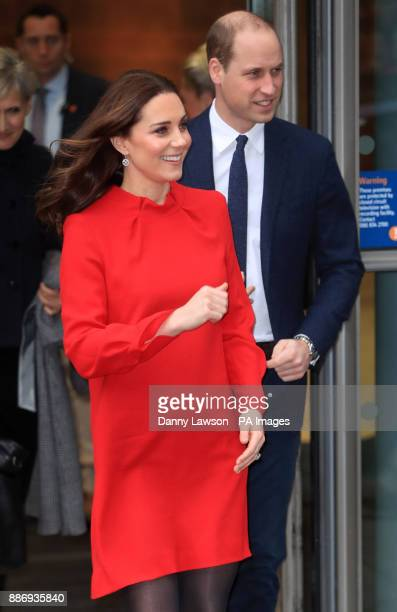 The Duke and Duchess of Cambridge leave after attending the Children's Global Media Summit at Manchester Central Convention Complex which brings...