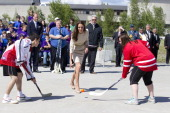 The Duke And Duchess Of Cambridge On Their Official Tour Of CanadaThe Duke And Duchess Begin Their Day In Yellowknife At The City Hall And Make A...