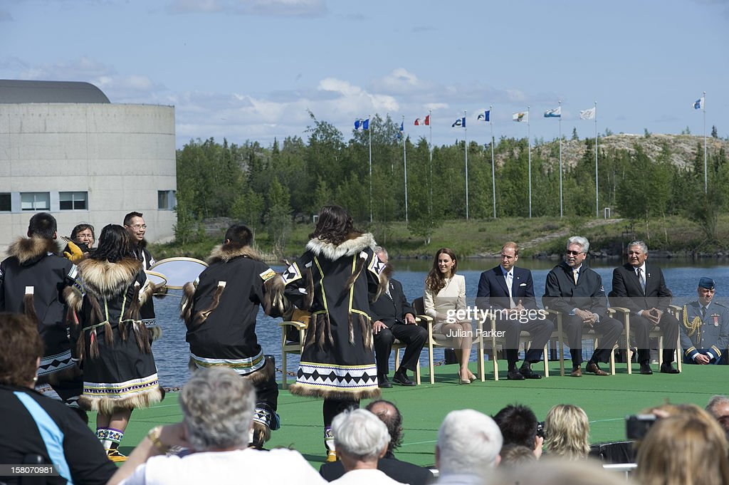 The Duke And Duchess Of Cambridge On Their Official Tour Of CanadaThe Duke And Duchess Begin Their Day In Yellowknife At The City Hall For Official...