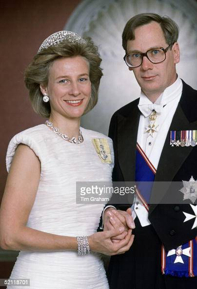 The Duke And Duchess Of Gloucester Celebrating Their 17th Wedding Anniversary Photographed At Home In Kensington Palace He Is Wearing The Insignia Of...