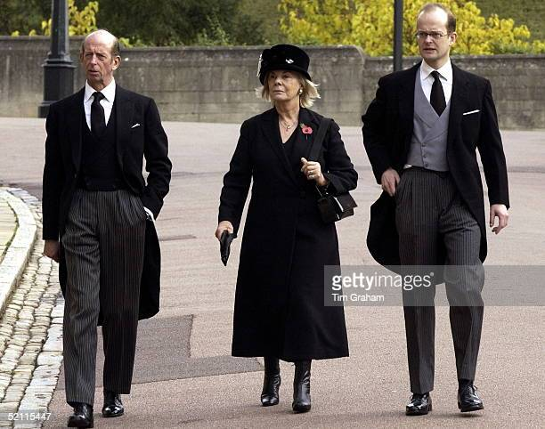 The Duke And Duchess Of Kent With Their Son Lord Nicholas Windsor Arriving At St George's Chapel Windsor To Attend The Funeral Of Princess Alice