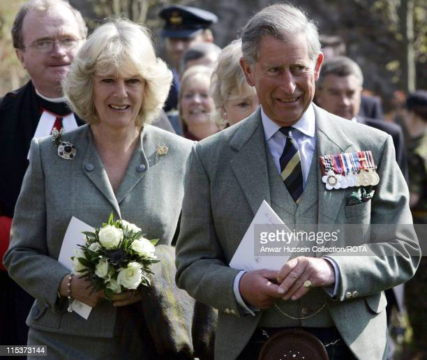 The Duke and Duchess of Rothesay attend a special memorial service to commemorate the lives of soldiers lost during active service at the Gordon...