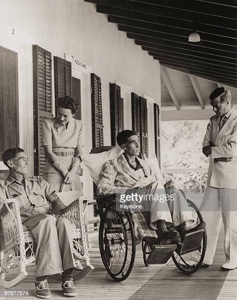 The Duke and Duchess of Windsor chat to patients at the Bahamas General Hospital in Nassau 1940 The Duke formerly King Edward VIII is the current...