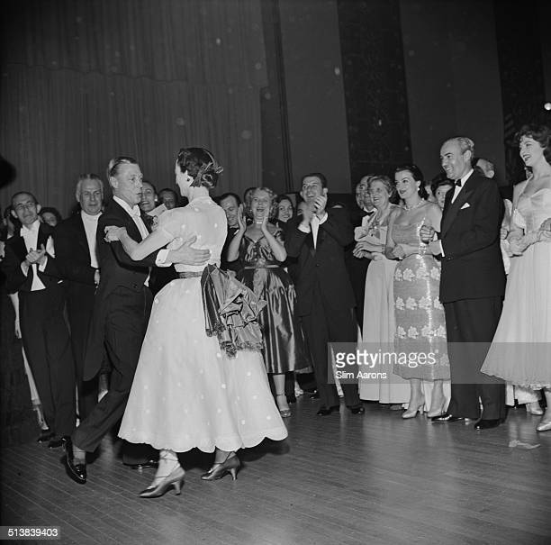 The Duke and Duchess of Windsor enjoy a dance at a party being held in their honour at the Waldorf Astoria Park Avenue New York 1953
