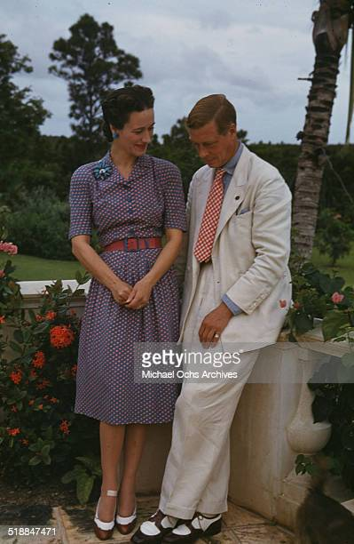 The Duke and Duchess Of Windsor pose at the Government house in NassauBahamas Duke of WindsorDuchess of Windsor